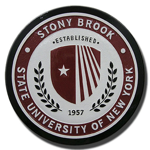 Stony Brook State University of New York wooden seals & logo emblems